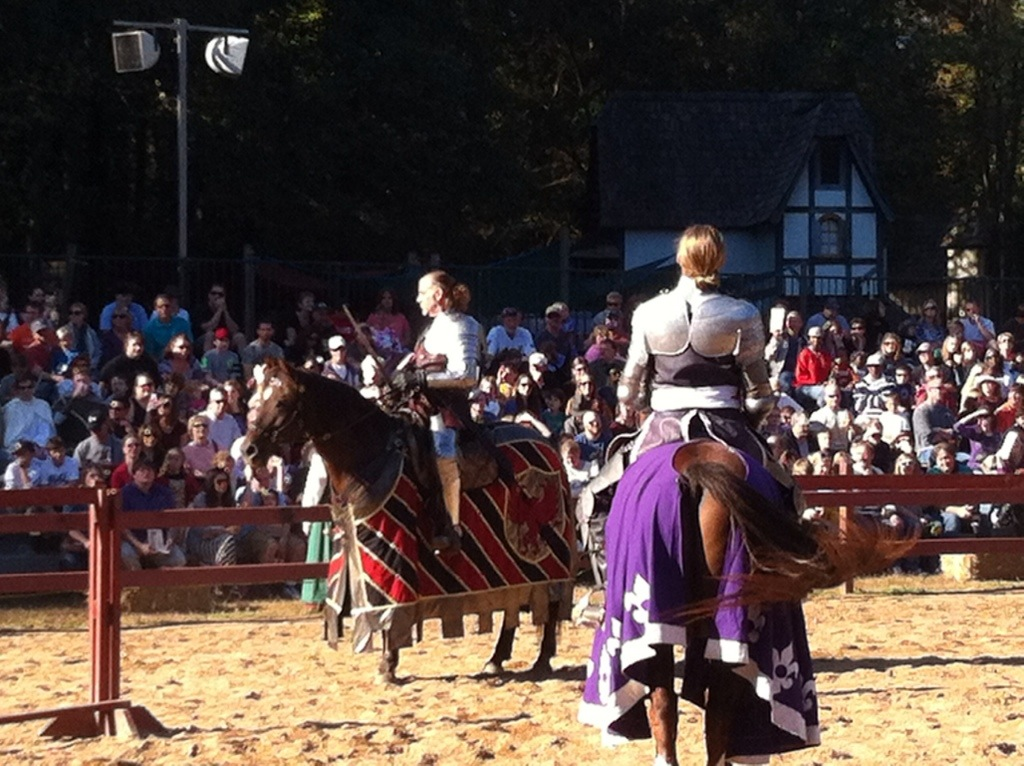A little smack talk to start off the joust.