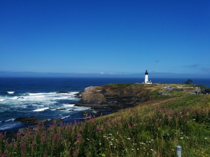 Yaquina Head coast and lighthouse.